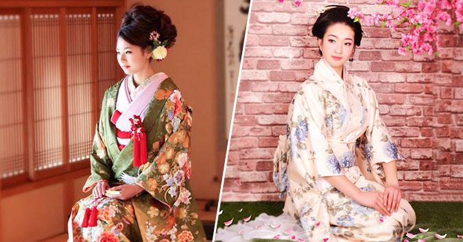 cách búi tóc khi mặc kimono