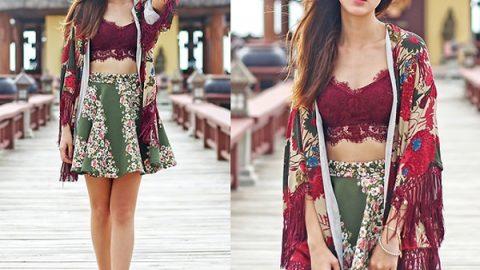 Những cách mặc áo khoác kimono đẹp đến từng milimet