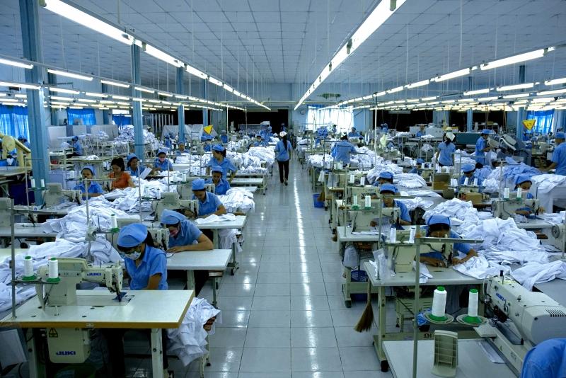 sản xuất hàng may mặc